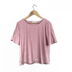 Rose and Olive large Pom Pom pink T-Shirt
